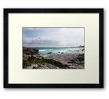 Beach Strip Framed Print