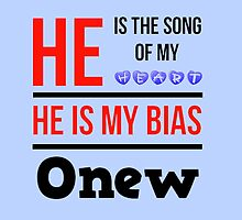 HE IS MY BIAS LIGHT BLUE - ONEW by Kpop Seoul Shop
