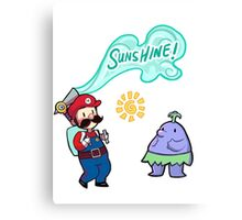 Super Mario Sunshine Canvas Print