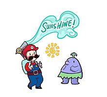 Super Mario Sunshine Photographic Print