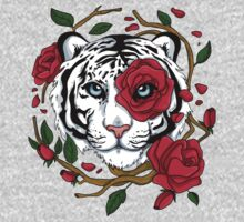 White Tiger One Piece - Long Sleeve