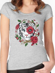 White Tiger Women's Fitted Scoop T-Shirt