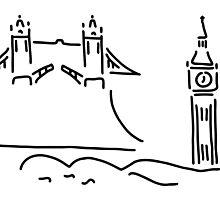 London tower bridge big ben by lineamentum
