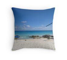 Still Beach Throw Pillow