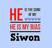 HE IS MY BIAS LIGHT BLUE - SIWON by Kpop Seoul Shop