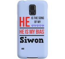 HE IS MY BIAS LIGHT BLUE - SIWON Samsung Galaxy Case/Skin