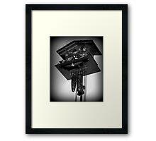 Clock Upon the Wall - Holga Framed Print