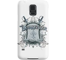 Official Burketeer Logo Badge Blue Samsung Galaxy Case/Skin