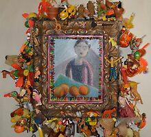 Levitating Oranges Of Borneo - Framed by Nancy Mauerman