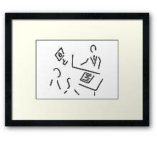 broker real estate shop assistant Framed Print