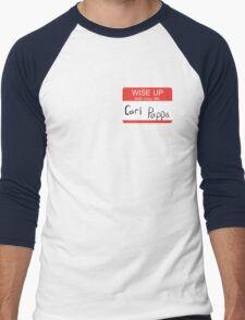 Carl Poppa. [Name Tag Style] Men's Baseball ¾ T-Shirt