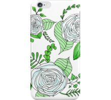 Sky + Lime // Floral Print iPhone Case/Skin