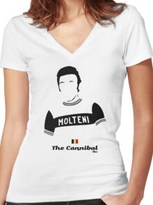 The Cannibal - Bici* Legendz Collection Women's Fitted V-Neck T-Shirt