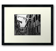 Back Street  - Venice  Framed Print