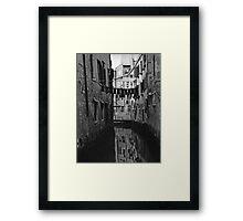Back Street Canal - Venice  Framed Print
