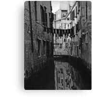 Back Street Canal - Venice  Canvas Print