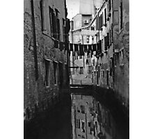 Back Street Canal - Venice  Photographic Print