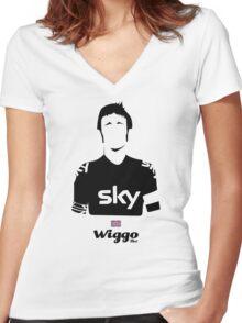 Wiggo - Bici* Legendz Collection  Women's Fitted V-Neck T-Shirt