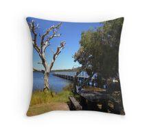 Walpole River jetty Throw Pillow