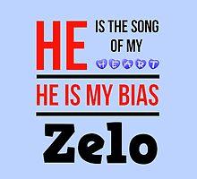 HE IS MY BIAS LIGHT BLUE - ZELO by Kpop Seoul Shop