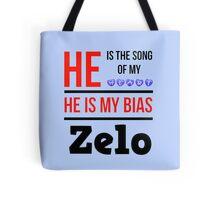 HE IS MY BIAS LIGHT BLUE - ZELO Tote Bag