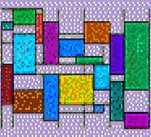 Mondrian Pixelate by ModernPixelArt