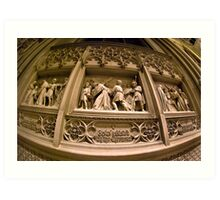 Wall Carving from St Patricks Cathedral - New York City Art Print