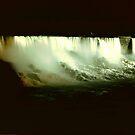 Niagra @ Night- American Falls & Bridal Falls by IraW