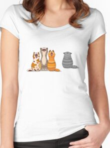 Cat's singalong Women's Fitted Scoop T-Shirt