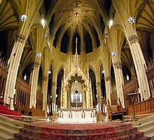 The Alter at St Patricks Cathedral in New York City by Kent Burton