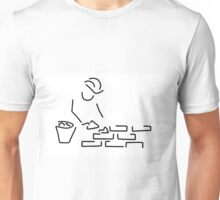 bricklayer construction worker building Unisex T-Shirt