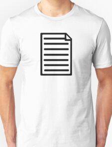 Document paper T-Shirt