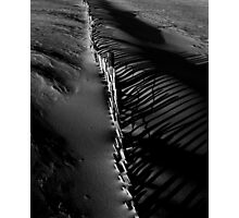 Sand Fence Shadows Photographic Print