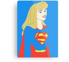 Princess Aurora as Supergirl Metal Print