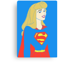 Princess Aurora as Supergirl Canvas Print