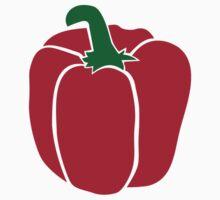 Red bell pepper One Piece - Short Sleeve