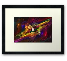 'Light Flame Abstract 228' Framed Print