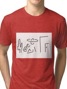 Mexican South America sombrero Tri-blend T-Shirt