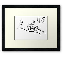 motorcycle sport offroad moto cross Framed Print