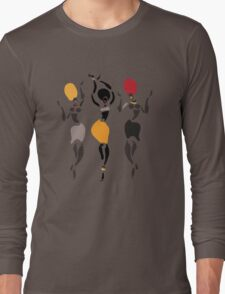 African dancers silhouette. Long Sleeve T-Shirt