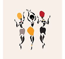 African dancers silhouette. Photographic Print