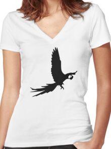 Flying parrot Women's Fitted V-Neck T-Shirt