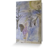 Dancing Under The Full Moon Greeting Card