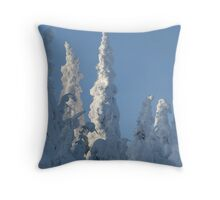 Snow Ghost Throw Pillow