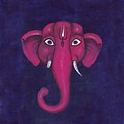Elephant. Lord Ganesha.  by Katyau