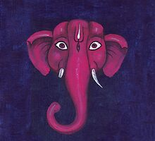 Elephant. Lord Ganesha.  by Katyau