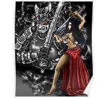 Geisha and Demon Samurai Poster