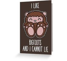 Bigfoots Greeting Card