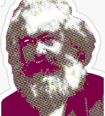halftone marx Sticker