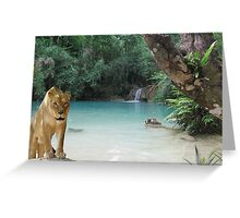 1101-Deep Jungle Watering Hole Greeting Card